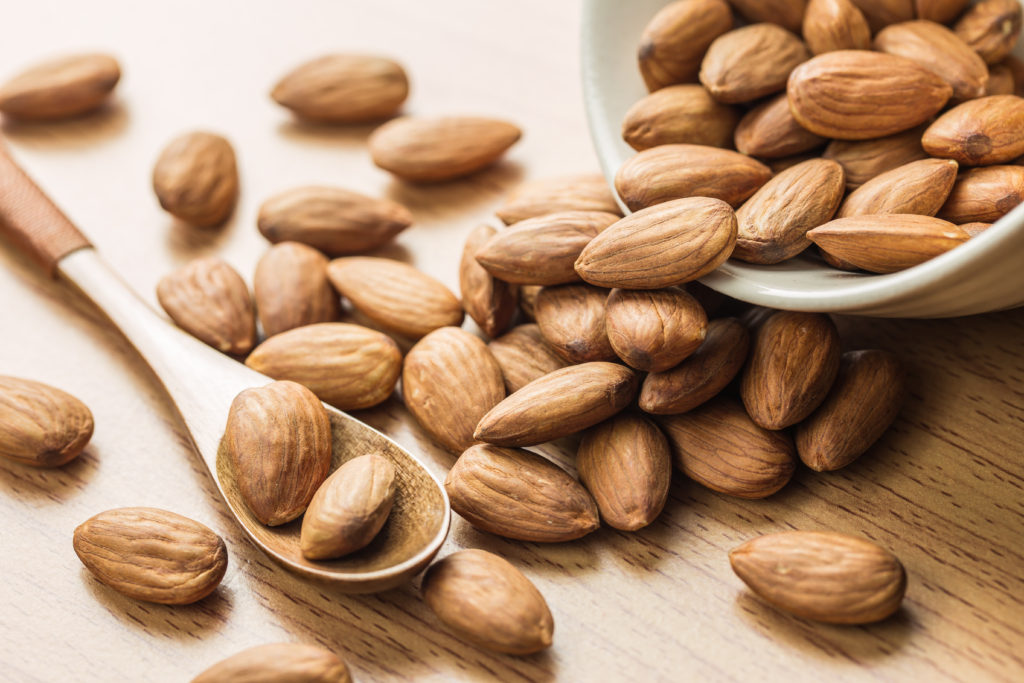 Almonds are a great source of protein.